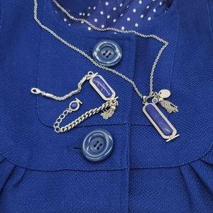 Lapis necklace and bracelet set
